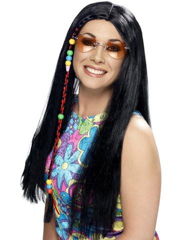 Parrucca hippy  nera