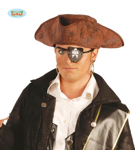 Accessorio di carnevale cappello pirata tricorno