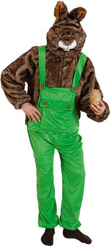 Costume peluche coniglio salopette