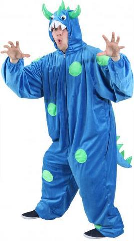 Costume peluche mostro blu