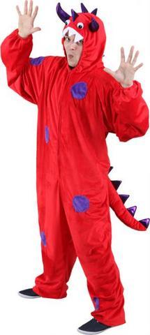 Costume peluche mostro rosso
