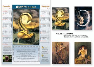 Calendario con lune e fasi lunari