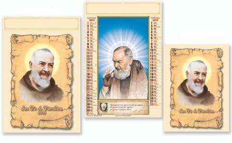 Calendario con santi