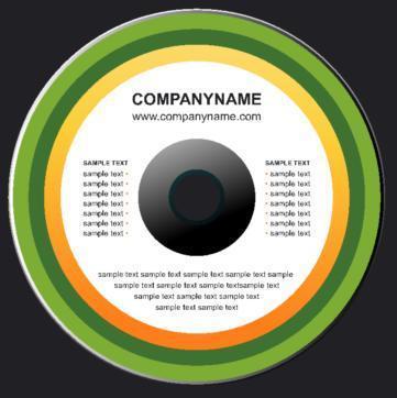 Etichette adesive per cd
