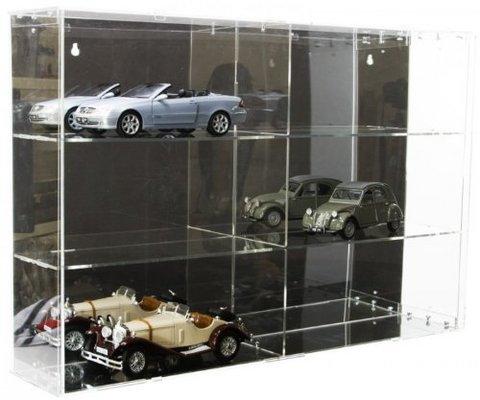 Vetrine espositive in legno, plastica o plexiglass