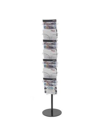 Porta Depliant In Plexiglass Con Scomparti