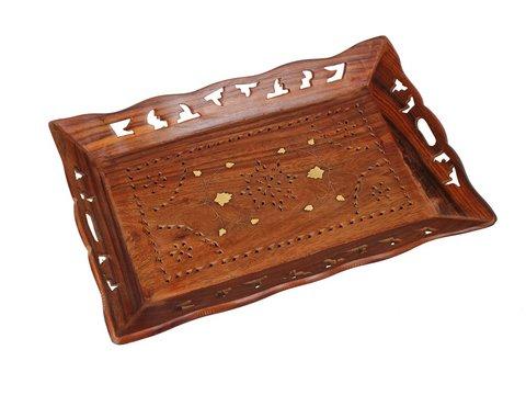 Vassoi in legno rotondo o quadrato