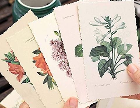 Cartoline vintage fiori