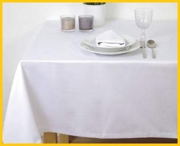 Tovaglie catering bianco raso