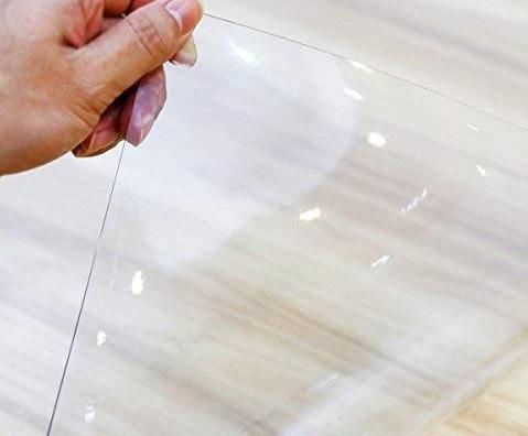 Tovaglia plastificata rettangolare trasparente