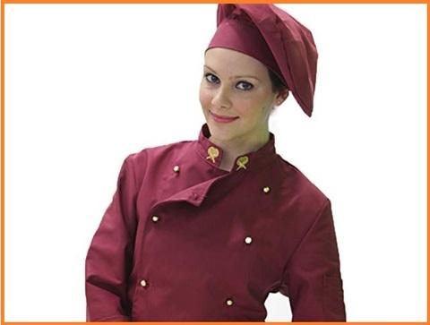 Divisa cuoco donna bordeaux