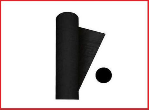 Tovaglia carta nera rotolo