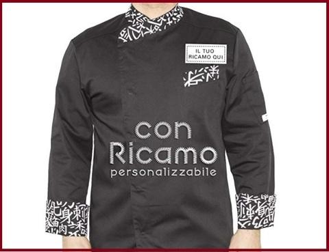 Giacca chef uomo personalizzabile