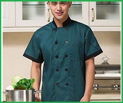 Chef giacca uomo verde