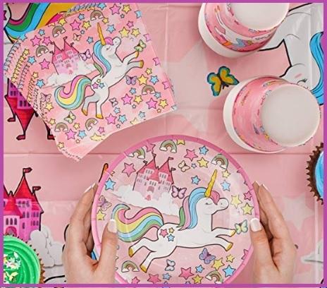 Tovaglia unicorno festa compleanno bambina