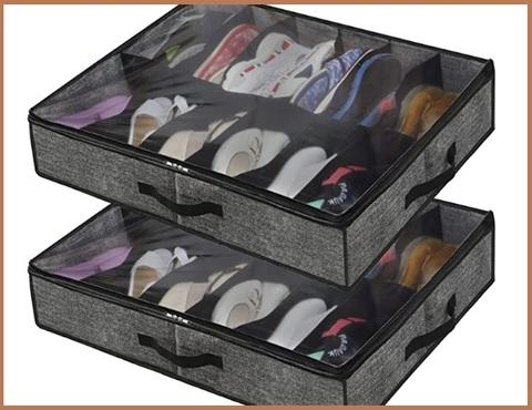 Contenitore in cartone per scarpe sotto letto