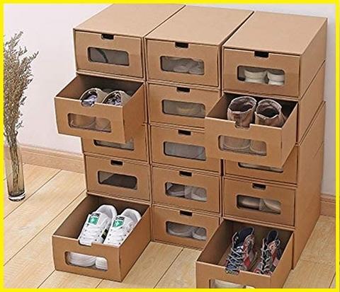 Scatole di cartone contenitori per scarpe da armadio
