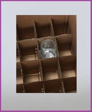 Scatole Con 15 Scomparti Per Trasloco Sicuro Per Bicchieri