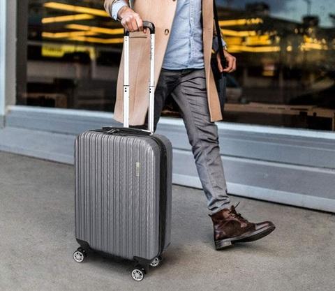 Trolley bagaglio a mano 55x35x20 leggera e resistente