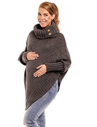 Vestito poncho premaman a maglia