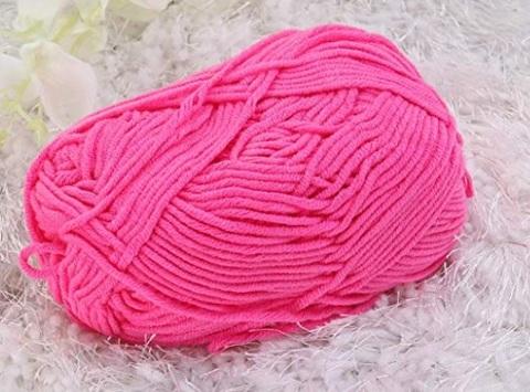 Cotone per uncinetto rosa