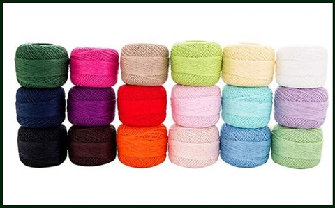 Cotone uncinetto colorato 10 pezzi