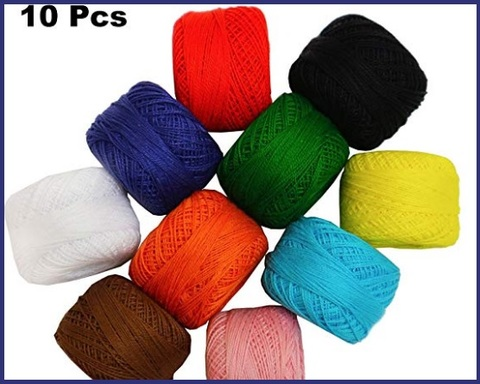 Cotone uncinetto colorato