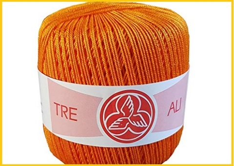 Cotone per uncinetto arancione