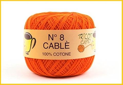 Cotone uncinetto 8 arancione