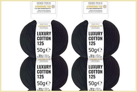Cotone uncinetto colorato nero
