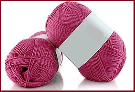 Cotone uncinetto colorato rosa