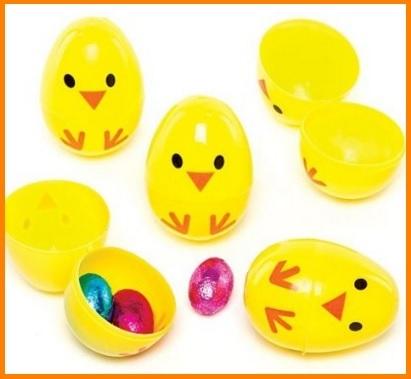 Uova di pasqua in plastica da riempire