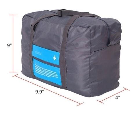 Valigia borsone realizzata per viaggi in aereo