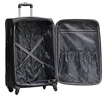 Valigia nera leggera trolley alistair