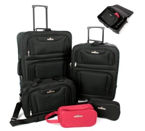 Set 5 valigie varie dimensioni per viaggiare