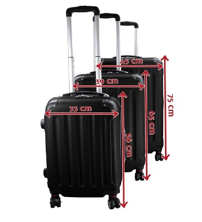 Valigie set trolley con ruote 360°