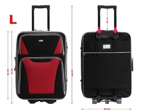 Valigia nera e rossa alistar 3 ruote