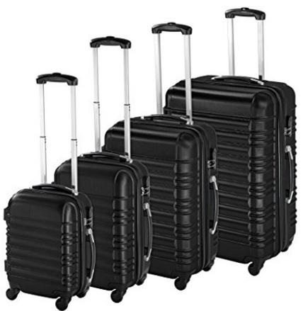Set valigie 4 rigide e varie dimensioni
