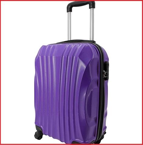 Valigia ultra leggera in abs viola