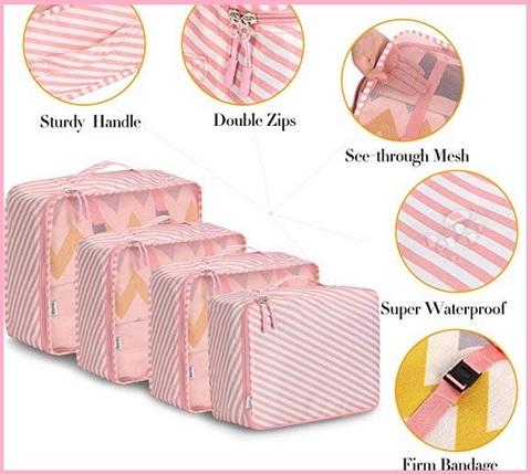 Organizer valigia set cubi da viaggio