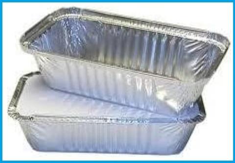 Vaschetta alluminio rettangolare