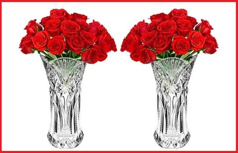 Vaso di cristallo per fiori