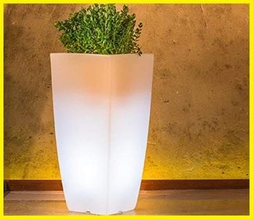 Vaso esterno luminoso elegante