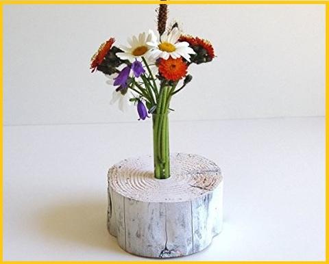 Vaso decorativo in legno