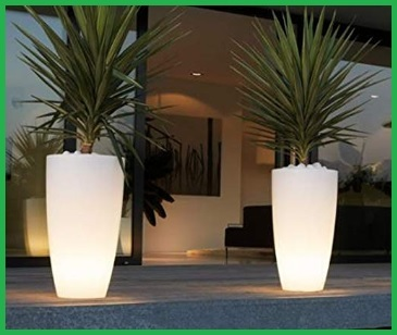 Vaso da giardino illuminato