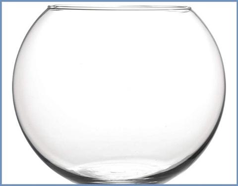 Vaso rotondo in vetro