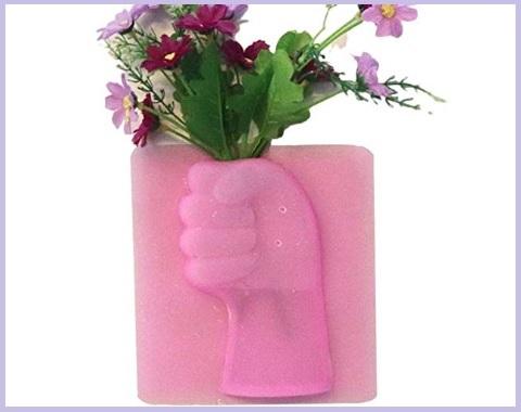 Vaso in silicone appiccicoso