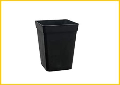 Vasi quadrati plastica nera