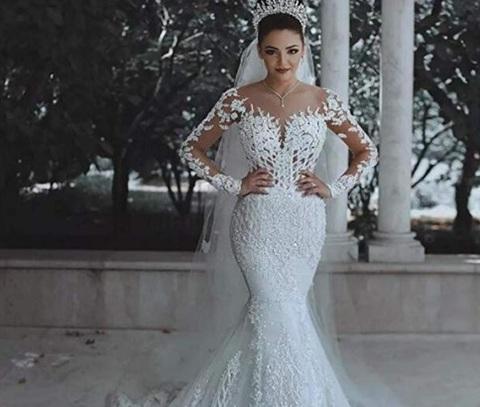 Vestito da sposa donna bianco lungo