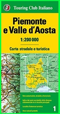 Piemonte e valle d'aosta carta stradale e turistica
